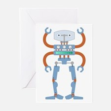 4 Armed Robot Greeting Cards (Pk of 10)