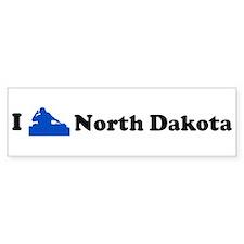 I DJ North Dakota Bumper Bumper Sticker
