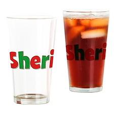 Sheri Christmas Drinking Glass