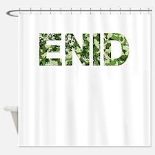 Enid, Vintage Camo, Shower Curtain