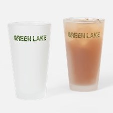 Green Lake, Vintage Camo, Drinking Glass