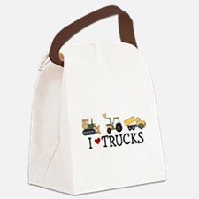 I Love Trucks Canvas Lunch Bag