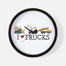 I Love Trucks Wall Clock