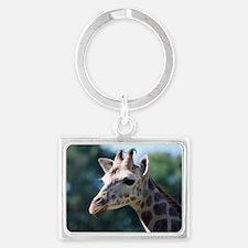 Giraffe Landscape Keychain