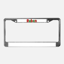 Ruben Christmas License Plate Frame