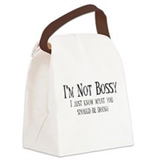 NotBossy_D.png Canvas Lunch Bag