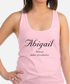 Abigail_meaning-b.png Racerback Tank Top