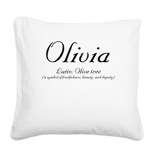 Olivia_meaning-b.png Square Canvas Pillow