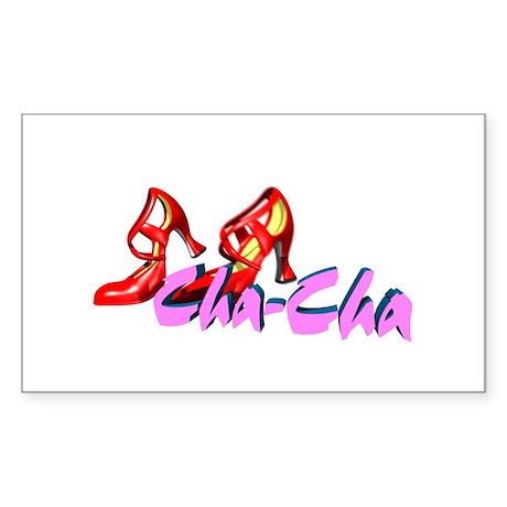 Cha-Cha Dance Rectangle Sticker