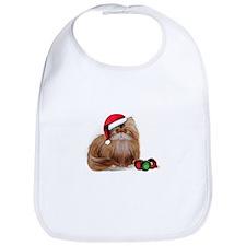Persian Cat with Christmas Balls Bib