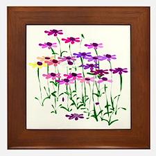 Wildflowers Framed Tile