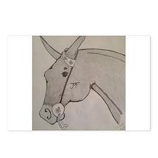 Pencil mule head Postcards (Package of 8)