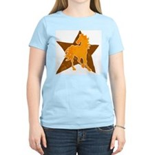 Horse star Women's Pink T-Shirt
