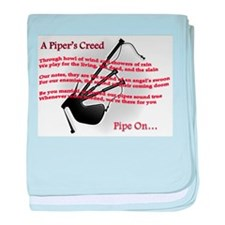 Piper's Creed (White) baby blanket