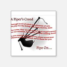 """Piper's Creed (White) Square Sticker 3"""" x 3"""""""