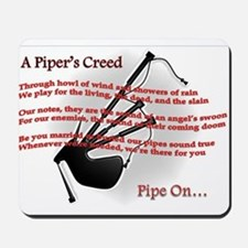 Piper's Creed (White) Mousepad