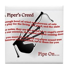 Piper's Creed (White) Tile Coaster