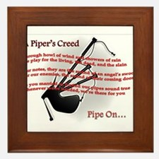 Piper's Creed (White) Framed Tile