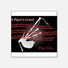 "Piper's Creed (Black) Square Sticker 3"" x 3"""