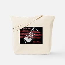 Piper's Creed (Black) Tote Bag