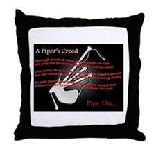 Piper's Creed (Black) Throw Pillow