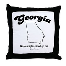 GEORGIA: No, our lights didn't go out Throw Pillow
