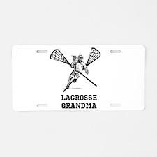 Lacrosse Grandma Aluminum License Plate