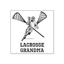 """Lacrosse Grandma Square Sticker 3"""" x 3"""""""