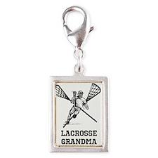 Lacrosse Grandma Silver Portrait Charm
