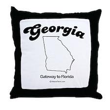 GEORGIA: Gateway to Florida Throw Pillow