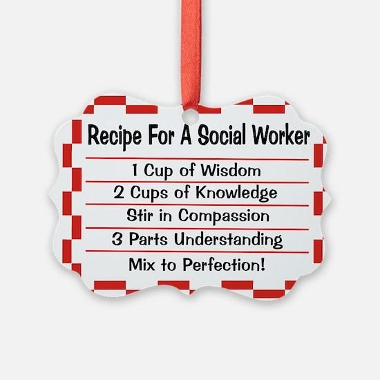 Cute Social services Ornament