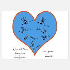 Handprints on your heart - 7 kids Invitations