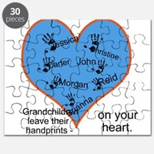 Handprints on your heart - 7 kids Puzzle