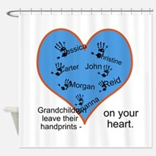 Handprints on your heart - 7 kids Shower Curtain