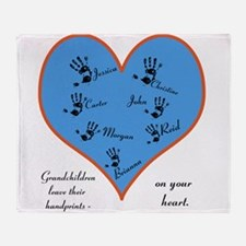 Handprints on your heart - 7 kids Throw Blanket