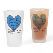 Handprints on your heart - 7 kids Drinking Glass