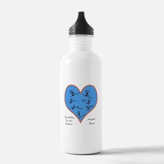 Handprints on your heart - 7 kids Water Bottle