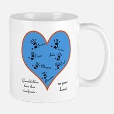 Handprints on your heart - 7 kids Small Mugs