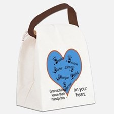Handprints on your heart - 7 kids Canvas Lunch Bag