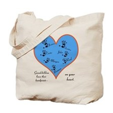 Handprints on your heart - 7 kids Tote Bag