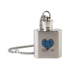 Handprints on your heart - 7 kids Flask Necklace