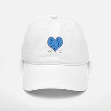Handprints on your heart - 7 kids Baseball Baseball Cap