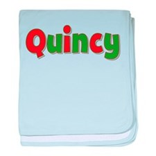 Quincy Christmas baby blanket