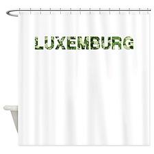 Luxemburg, Vintage Camo, Shower Curtain
