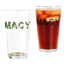 Macy, Vintage Camo, Drinking Glass
