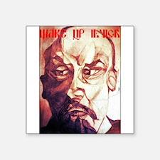 "Wake Up Lenin Square Sticker 3"" x 3"""