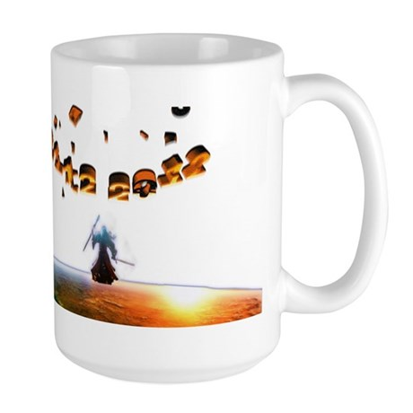 You shall not pass end of world Large Mug