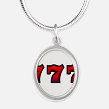 777 Silver Oval Necklace