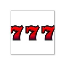 "777 Square Sticker 3"" x 3"""