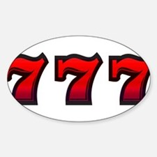 777 Sticker (Oval)
